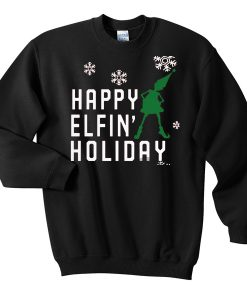 happy elfin holiday sweatshirt